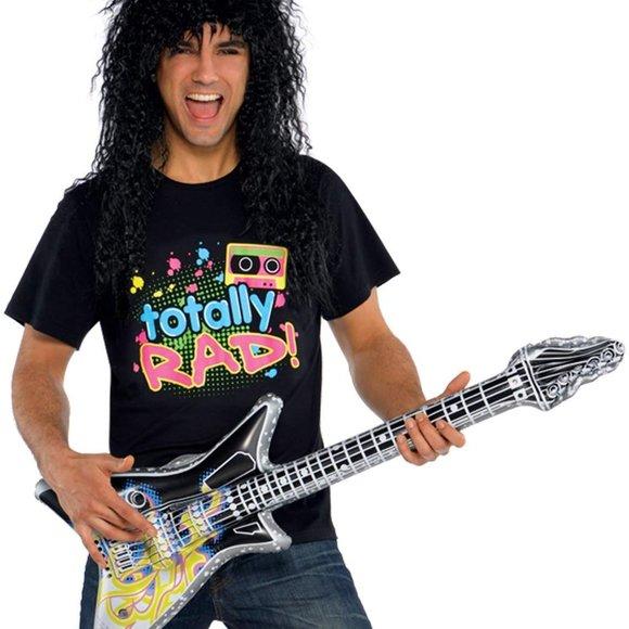80s Totally Rad Punk Rock Band T Shirt Neon Retro